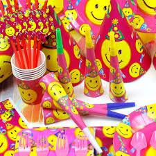 party items children s birthday party supplies smiley baby birthday party