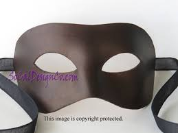 blank masquerade masks colombino brown brown leather unisex masquerade mask leather