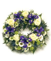funeral wreaths are popular any flower or colouring can be used