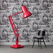 Anglepoise Floor Lamp 31114 Anglepoise Giant 1227 Vivid Floor Lamp In Raspberry Red From