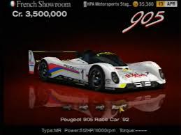 peugeot 506 car image peugeot 905 race car u002792 jpg gran turismo wiki fandom