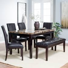 3 Piece Dining Room Set by 3 Piece Dining Set Brown High Gloss Wood Countertops Stainless