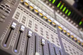 Recording Studio Mixing Desk by Beck Studios