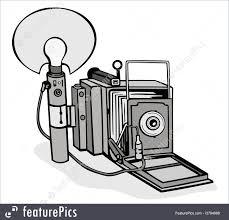 vintage camera flash bulb illustration