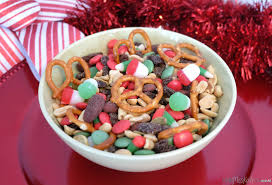 sweet and salty christmas trail mix little miss kate