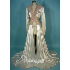 wedding peignoir sets peignoir sets and more antique dress 1940s satin honeymoon