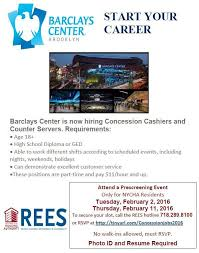 Jobs Hiring No Resume Needed by Jobs Alert Concessions Staff At Barclays Center Bklyner