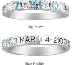 ring with birthstones applesofgold personalized alternating gemstone birthstone