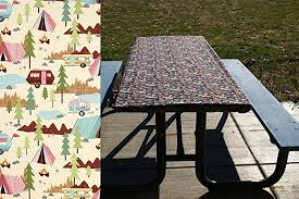 fitted picnic table covers amazon com rv cing tablecloth picnic table cover fitted