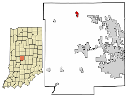 Time Zone Map Indiana by Lizton Indiana Wikipedia