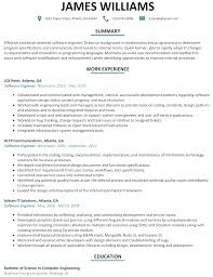 Front End Developer Resume Sample Resume Template For Software Developer Free Resume Example And