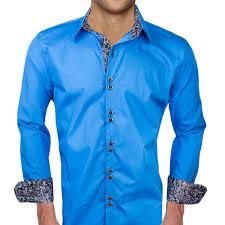 blue with black dress shirts