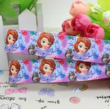 discount 7 8 u0027 u0027 sofia princess cartoon printed grosgrain ribbon
