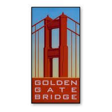 magnet golden gate bridge vintage