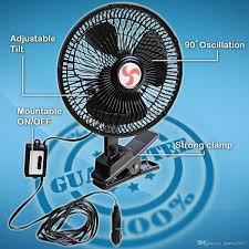 12 volt clip on fan online cheap new 12v black dashboard oscillating clip on fan