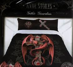 quilt cover set double bed anne stokes doona pillow cases gothic