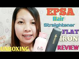 hair blessing rebond review epsa hair straightener flat iron unboxing review youtube