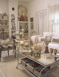 Shabby Chic Style Beige Living by