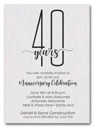 anniversary party invitations shimmery white business anniversary party invitations