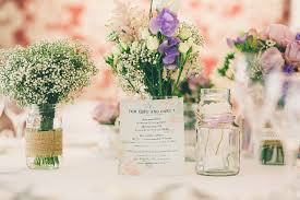 wedding flowers jam jars julie and jon s modern with a twist of vintage seaside wedding by