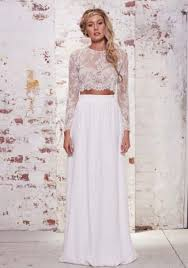 two wedding dress two o neck floor length white chiffon a line wedding dress