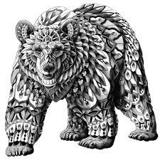 bear wall sticker decal u2013 ornate animal art by bioworkz wall