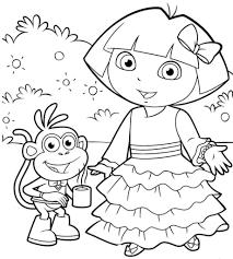 printable dora explorer cartoon coloring books printable