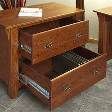 Filing Cabinets Lateral Mission Style Solid Oak Office Lateral Filing Cabinet 36 The