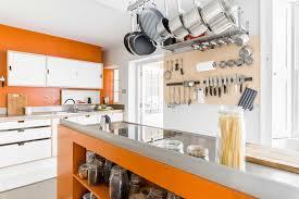 and orange modern kitchen