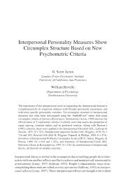 interpersonal personality measures show circumplex structure based