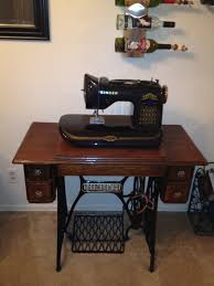 my restored 1920s singer treadle with anniversary edition 160
