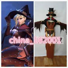 Halloween Costume Sale Custom Game Halloween Overwatch Terror Mercy Skin Witch Cosplay