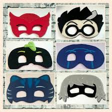 pj masks pretend play masks handmade mask dress mask