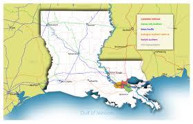 Csx Railroad Map Transportation Port Of South Louisiana
