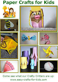 Easy Paper Craft Ideas For Kids - paper crafts for kids collage jpg