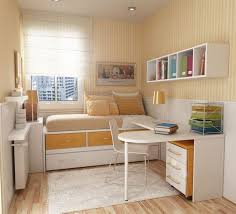 Small Single Bedroom Design Stained Wooden Frame White Wall Bedroom Ideas For Small