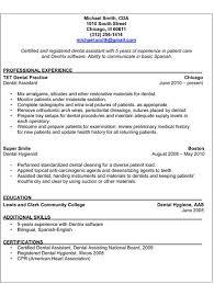 Dentist Resume Sample by Dental Assistant Resume Examples Resume Format 2017