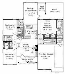 european style house plan 3 beds 2 baths 1600 sq ft plan 21 185