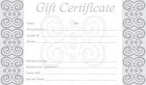 32 free certificate templates to print free gift certificate