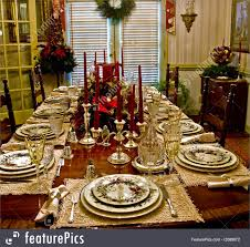 set table to dinner christmas dinner table picture