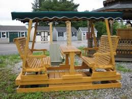 outdoor glider swing with table outdoor glider swing home design ideas and pictures