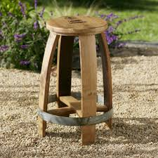 barrel stave cafe table and stools vivaterra