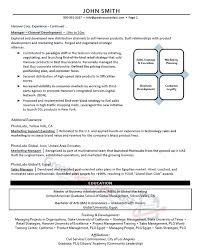 Sales And Marketing Manager Resume Examples by Executive Resume Samples Professional Resume Samples