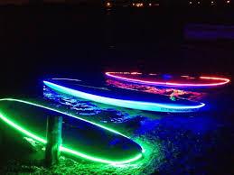 kayak lights for night paddling the smart led light fitted nightsup boards for night paddling