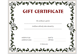 gift certificates free gift certificate template printable free printable gift