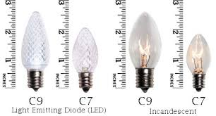 what is the difference between c7 and c9 lights c7 c9 christmas lights