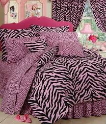 Tiger Comforter Set Zebra Print Dorm Room Bedding Extra Long Twin Size Available