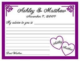 50 wedding or bridal shower advice cards personalized ebay