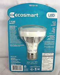 ecosmart light bulbs warranty ecosmart 50w equivalent daylight 5000k br20 led flood light bulb