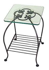 small wrought iron table wrought iron occasional tables with glass